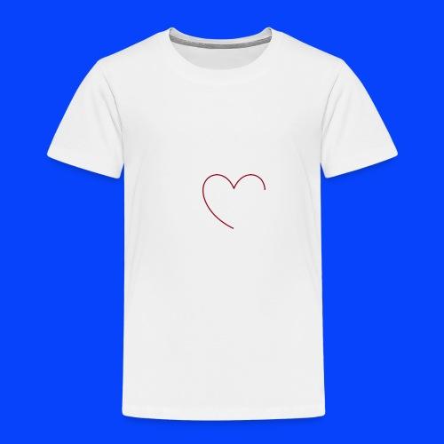 t-shirt bianca con cuore - Maglietta Premium per bambini