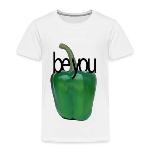 Pimiento verde/ green pepper. Be you - Camiseta premium niño