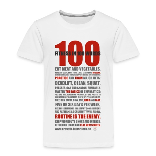 100 WORDS light shirt - Kinder Premium T-Shirt
