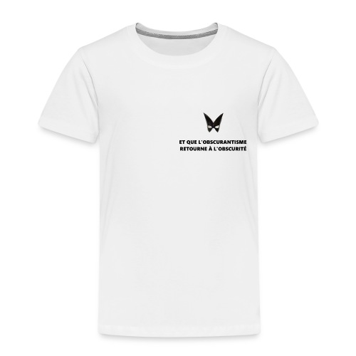 Defakator : logo et devise sur fond blanc - T-shirt Premium Enfant