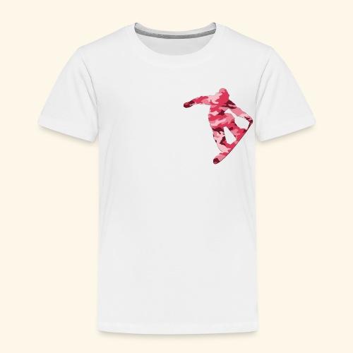 camouflage pink snowboarda Von Nuke - Kinder Premium T-Shirt