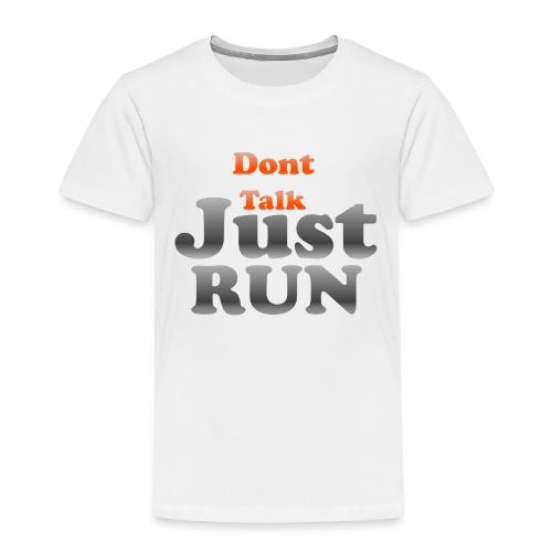 Just Run Limited Shirt, Motivation Laufen, Joggen - Kinder Premium T-Shirt