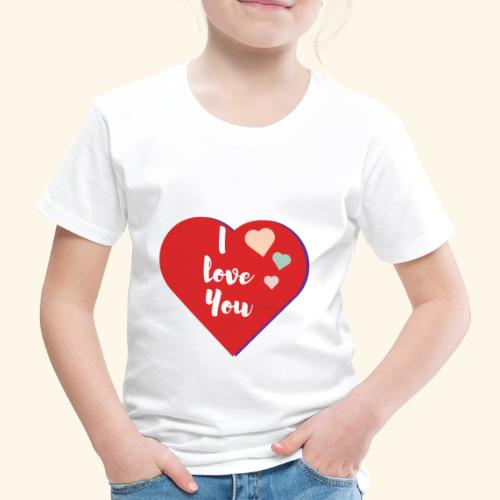 I Love You - T-shirt Premium Enfant