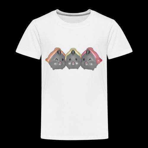 trio souris grises filles - T-shirt Premium Enfant