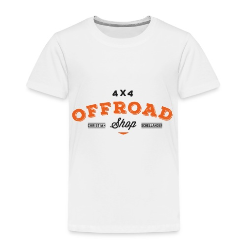 4x4 Offroad Shop Logo V2 - Kinder Premium T-Shirt