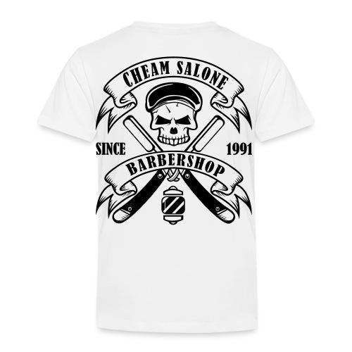 Barbershop black on white. - Kids' Premium T-Shirt