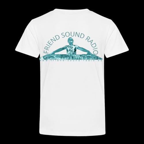 Friend Sound Radio DJ Rücken - Kinder Premium T-Shirt
