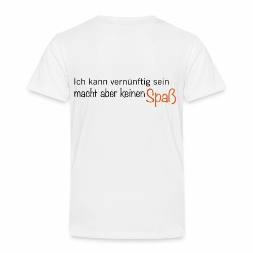 Verknunft - Spaß - Kinder Premium T-Shirt