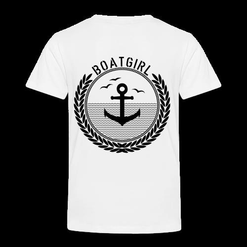 BoatGirl - Anchor - Kinder Premium T-Shirt
