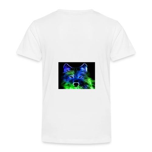 green and blue wolf - Kids' Premium T-Shirt