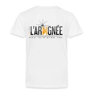 L'ARAIGNÉE, logo noir - T-shirt Premium Enfant
