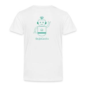 Blanc avec logo dojo vert jette - T-shirt Premium Enfant