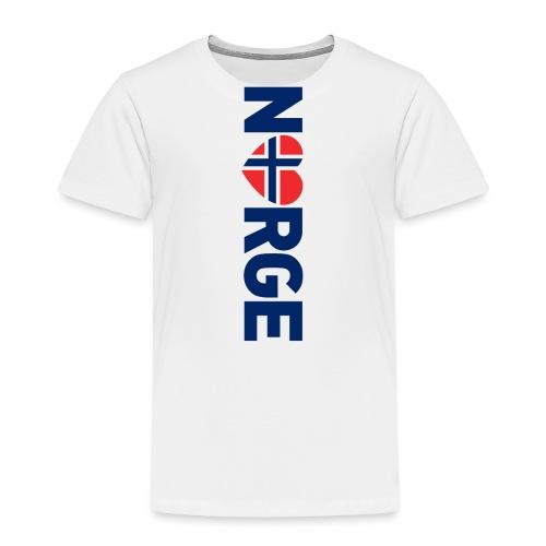 Elsker Norge - fra Det norske plagg - Premium T-skjorte for barn