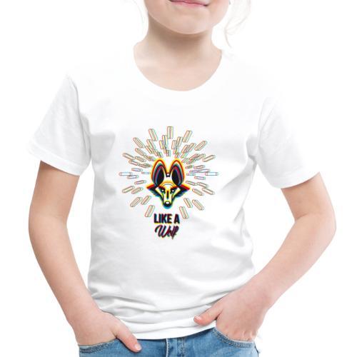 Tee shirt Premium Enfant loup 3D - T-shirt Premium Enfant