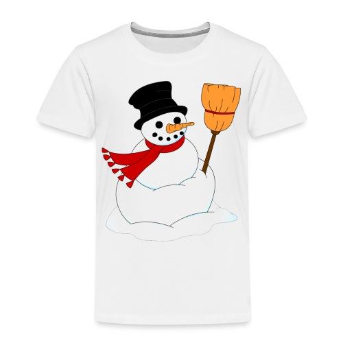Snemand m. kost - Børne premium T-shirt