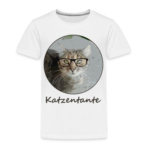 Katzentante mag Kaffee (Linkshänder!) - Kinder Premium T-Shirt
