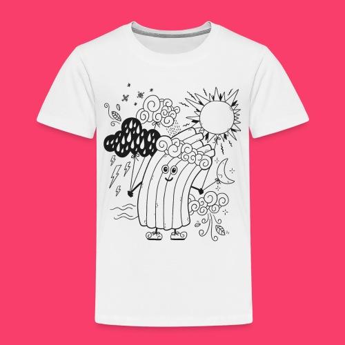 Rudi Regenbogen Wetter-Motiv zum Ausmalen - Kinder Premium T-Shirt