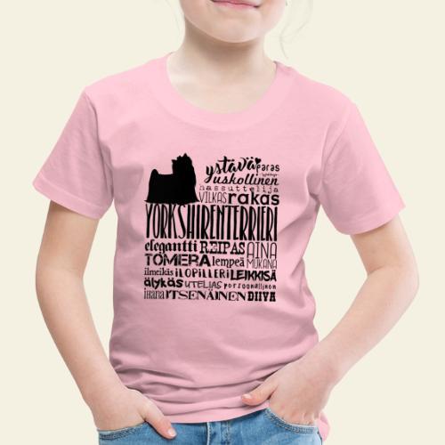 Yorkshirenterrieri Sanat M - Lasten premium t-paita