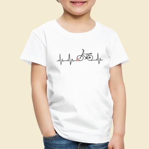 Radball | Heart Monitor Black - Kinder Premium T-Shirt
