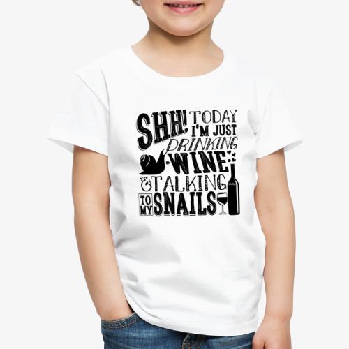 SHH Snails Black - Lasten premium t-paita