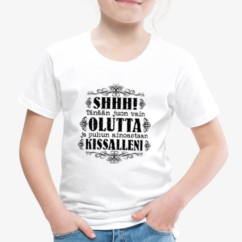 Olut Kissa IV - Lasten premium t-paita