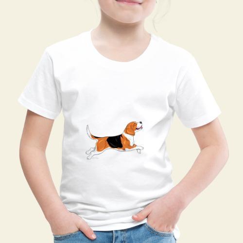 Beagle Ärähdä Emäntä - Lasten premium t-paita