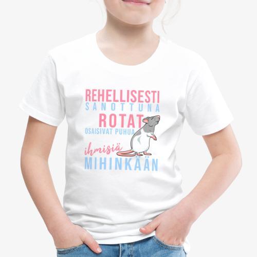 Rotat Osaisivat Puhua I - Lasten premium t-paita
