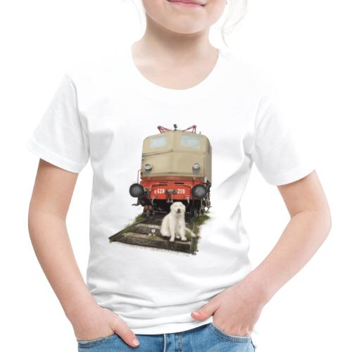 Golden Retriever with Train - Maglietta Premium per bambini