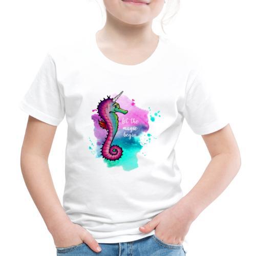 Seahorse-Unicorn - Kinder Premium T-Shirt