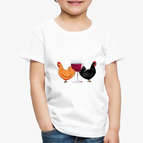 Wine Alone Chickens - Lasten premium t-paita