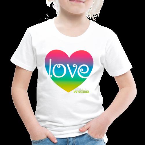 LOVE - Lasten premium t-paita