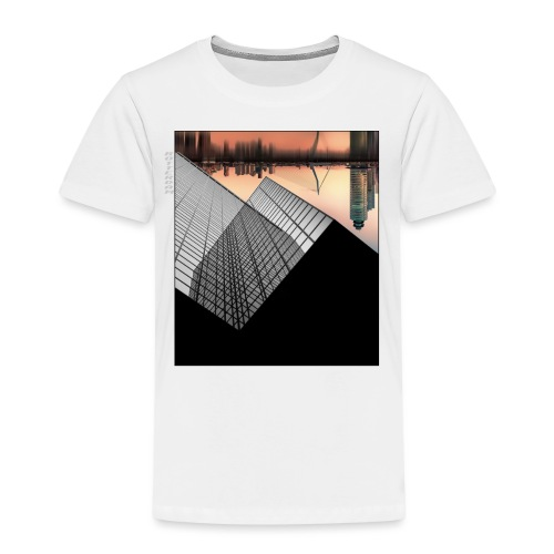 Rotterdam Skyline vs Delftse Poort - Kinderen Premium T-shirt