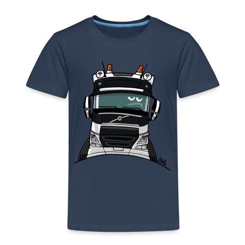 0488 V truck wit - Kinderen Premium T-shirt