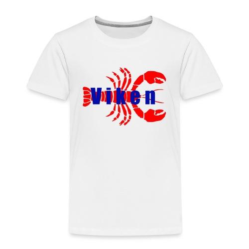 Vorren Logo HUMMERSÄSONG (Röd/Blå) - Premium-T-shirt barn