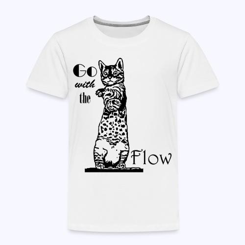 YogaKat1 schwarz - Kinder Premium T-Shirt