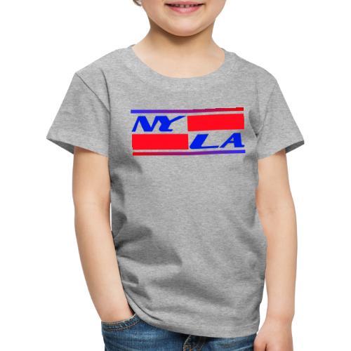 New York NY Los Angeles LA - Kinder Premium T-Shirt
