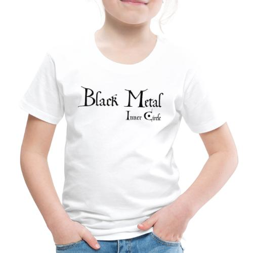 black metal Inner Circle, black ink - Kids' Premium T-Shirt