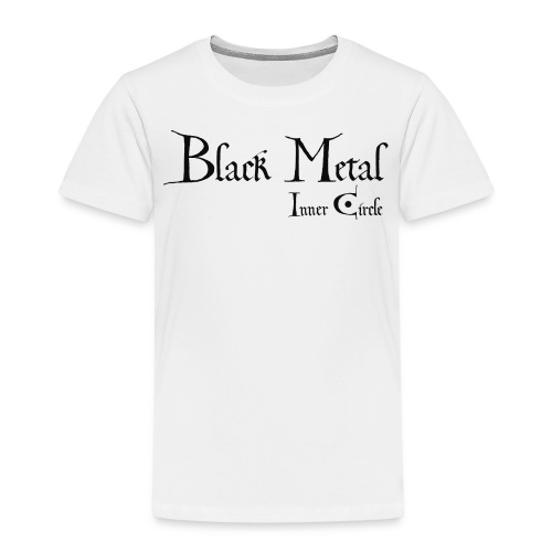 black metal Inner Circle, black ink - Kids' Premium T-Shirt