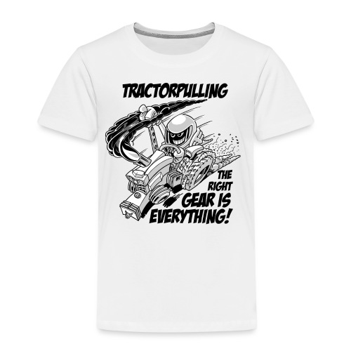 0966 tractorpulling BW - Kinderen Premium T-shirt