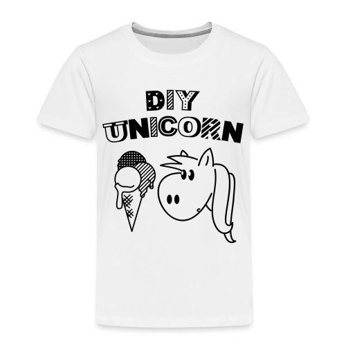 DIY Unicorn Einhorn - Kinder Premium T-Shirt