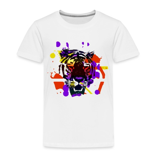 Tiger Splatter Motive - Kids' Premium T-Shirt