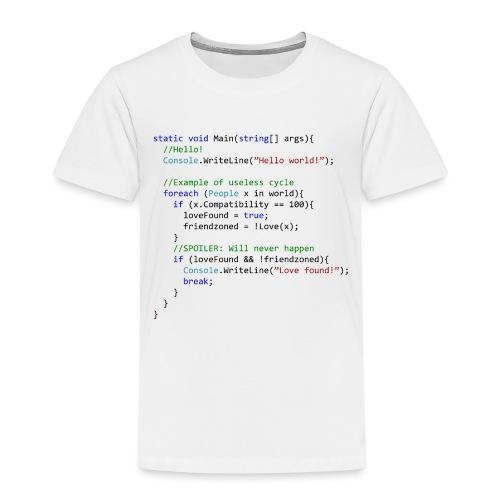 Love seen by a C# programmer - Maglietta Premium per bambini