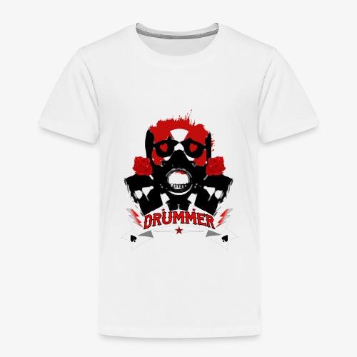 Skull Drummer black - Kinder Premium T-Shirt