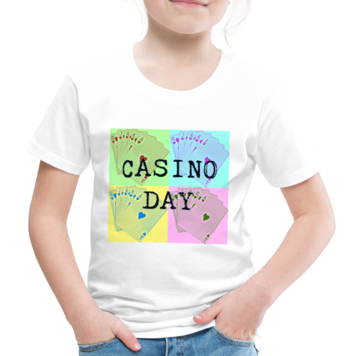 Casino Day Coloured Cards - Kids' Premium T-Shirt
