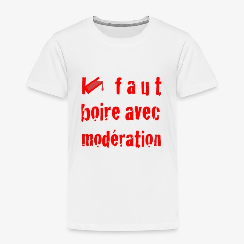 test t shirt FACE ROUGE - T-shirt Premium Enfant