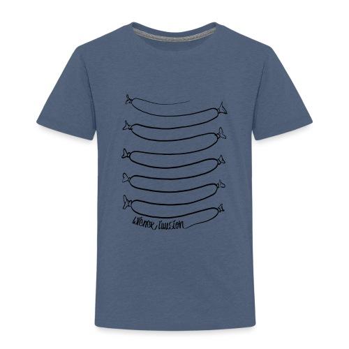 Wiener Illusion (schwarz auf weiß) - Kinder Premium T-Shirt