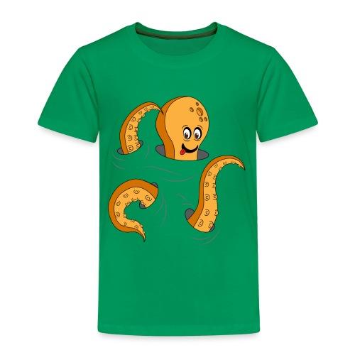 Simpatico polpo curioso - Maglietta Premium per bambini