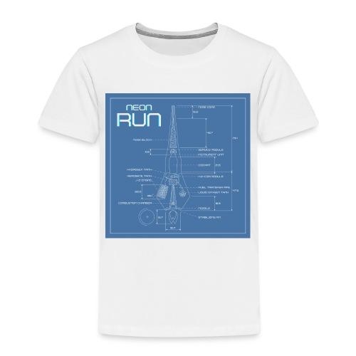 NeonRun blueprint - Kinderen Premium T-shirt