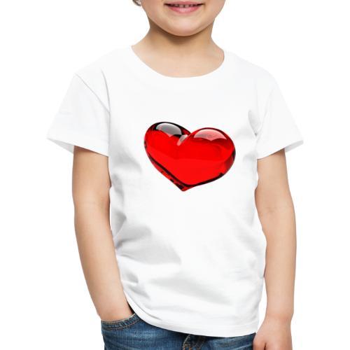 serce 3D - Koszulka dziecięca Premium