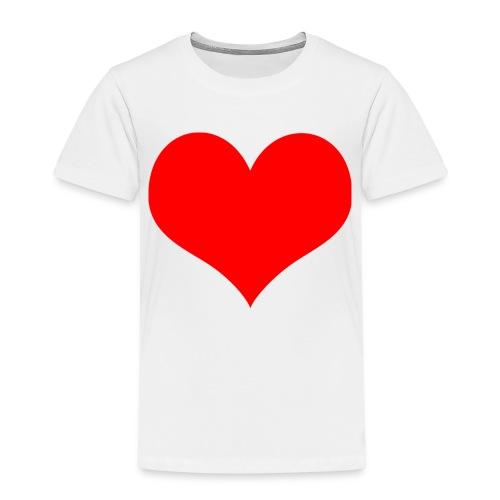 rotes Herz - Kinder Premium T-Shirt